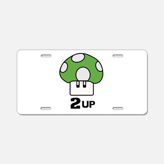 2 Up mushroom Aluminum License Plate
