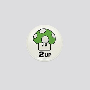 2 Up mushroom Mini Button