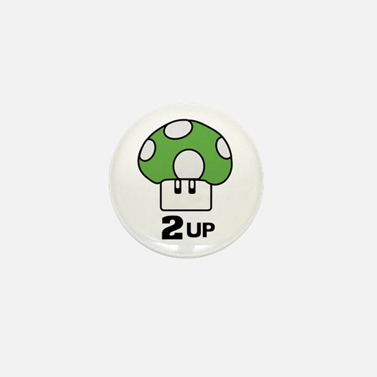 2 Up mushroom Mini Button