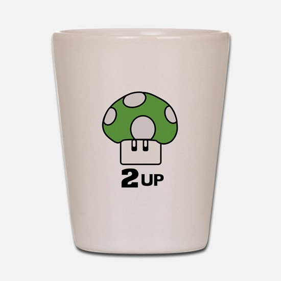 2 Up mushroom Shot Glass