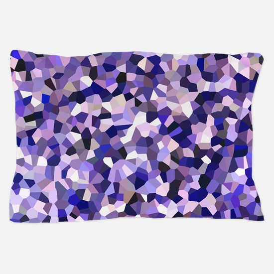 Violet Mosaic Pattern Pillow Case