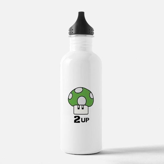 2 Up mushroom Water Bottle