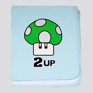 2 Up mushroom baby blanket