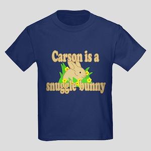 Carson is a Snuggle Bunny Kids Dark T-Shirt
