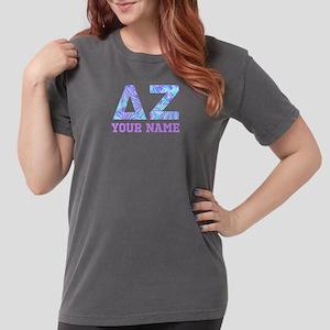 Delta Zeta Blue Purp Womens Comfort Color T-shirts