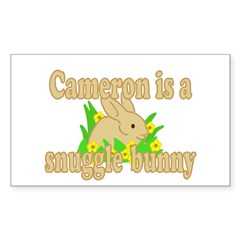 Cameron is a Snuggle Bunny Decal