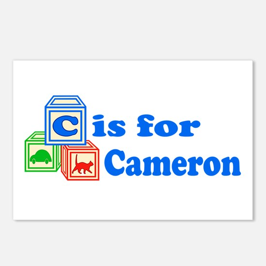 Baby Blocks Cameron Postcards (Package of 8)