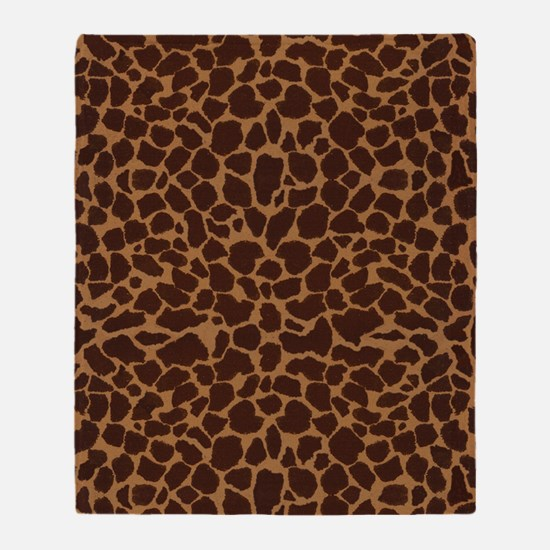 Giraffe Print Throw Blanket
