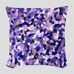 Violet Mosaic Pattern Woven Throw Pillow