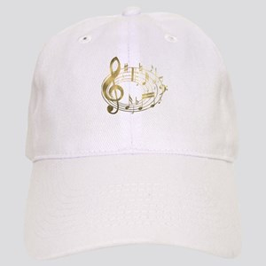 Golden Musical Notes Oval Cap