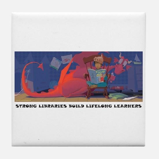 Dragon Reading Tile Coaster