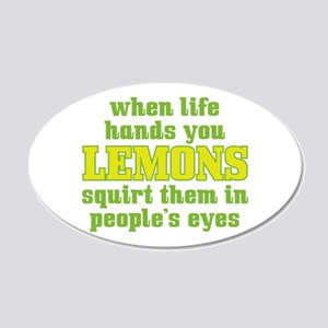 Rude Lemons 22x14 Oval Wall Peel