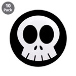 "SkullSpace Cute Skull 3.5"" Button (10 pack)"