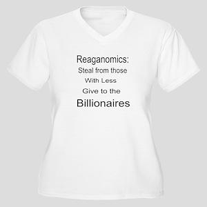 Reaganomics Anti MiddleClass Women's Plus Size V-N