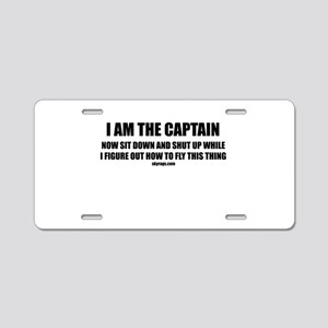 I AM THE CAPTAIN Aluminum License Plate