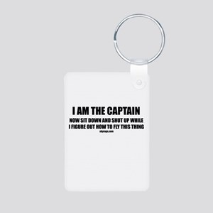 I AM THE CAPTAIN Aluminum Photo Keychain