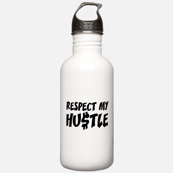 Respect my HUSTLE Sports Water Bottle