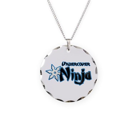 Undercover Ninja Necklace Circle Charm