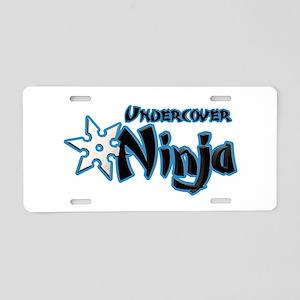 Undercover Ninja Aluminum License Plate