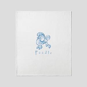 Poodle Illustration Throw Blanket