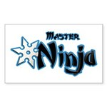Ninja Master Sticker (Rectangle 10 pk)