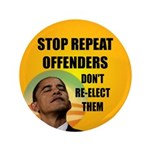 """Stop Repeat Offenders 3.5"""" Button (100 pack)"""
