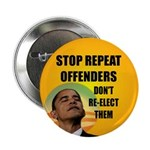 """Stop Repeat Offenders 2.25"""" Button (100 pack)"""