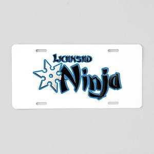 Licensed Ninja Blue Aluminum License Plate