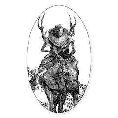 deer hunter Sticker (Oval)