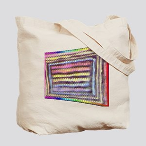 ABSTRACT WOVEN RAINBOW FLAG in MATTE-2images Tote