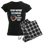 Stop Repeat Offenders Women's Dark Pajamas