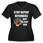 Stop Repeat Offenders Women's Plus Size V-Neck Dar