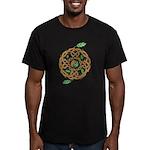 Celtic Nature Yin Yang Men's Fitted T-Shirt (dark)