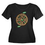 Celtic Nature Yin Yang Women's Plus Size Scoop Nec
