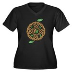 Celtic Nature Yin Yang Women's Plus Size V-Neck Da