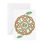 Celtic Nature Yin Yang Greeting Card