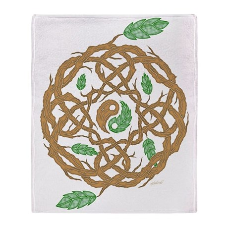 Celtic Nature Yin Yang Throw Blanket