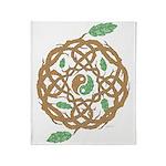 Celtic Nature Yin Yang Throw Blanket