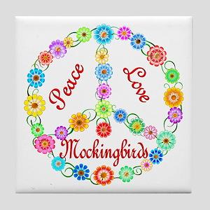 Peace Love Mockingbirds Tile Coaster