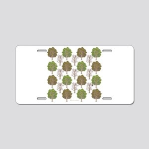 Argyle Tree Aluminum License Plate