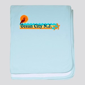 Wrightsville Beach NC - Map baby blanket