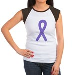 Violet Ribbon Women's Cap Sleeve T-Shirt