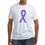 Violet Ribbon Fitted T-Shirt