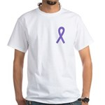 Violet Ribbon White T-Shirt
