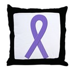 Violet Ribbon Throw Pillow