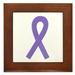 Violet Ribbon Framed Tile