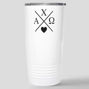 Alpha Chi Omega C 16 oz Stainless Steel Travel Mug