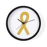 Gold Ribbon Wall Clock