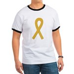 Gold Ribbon Ringer T