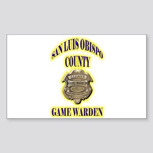 San Louis Obispo Warden Sticker (Rectangle)